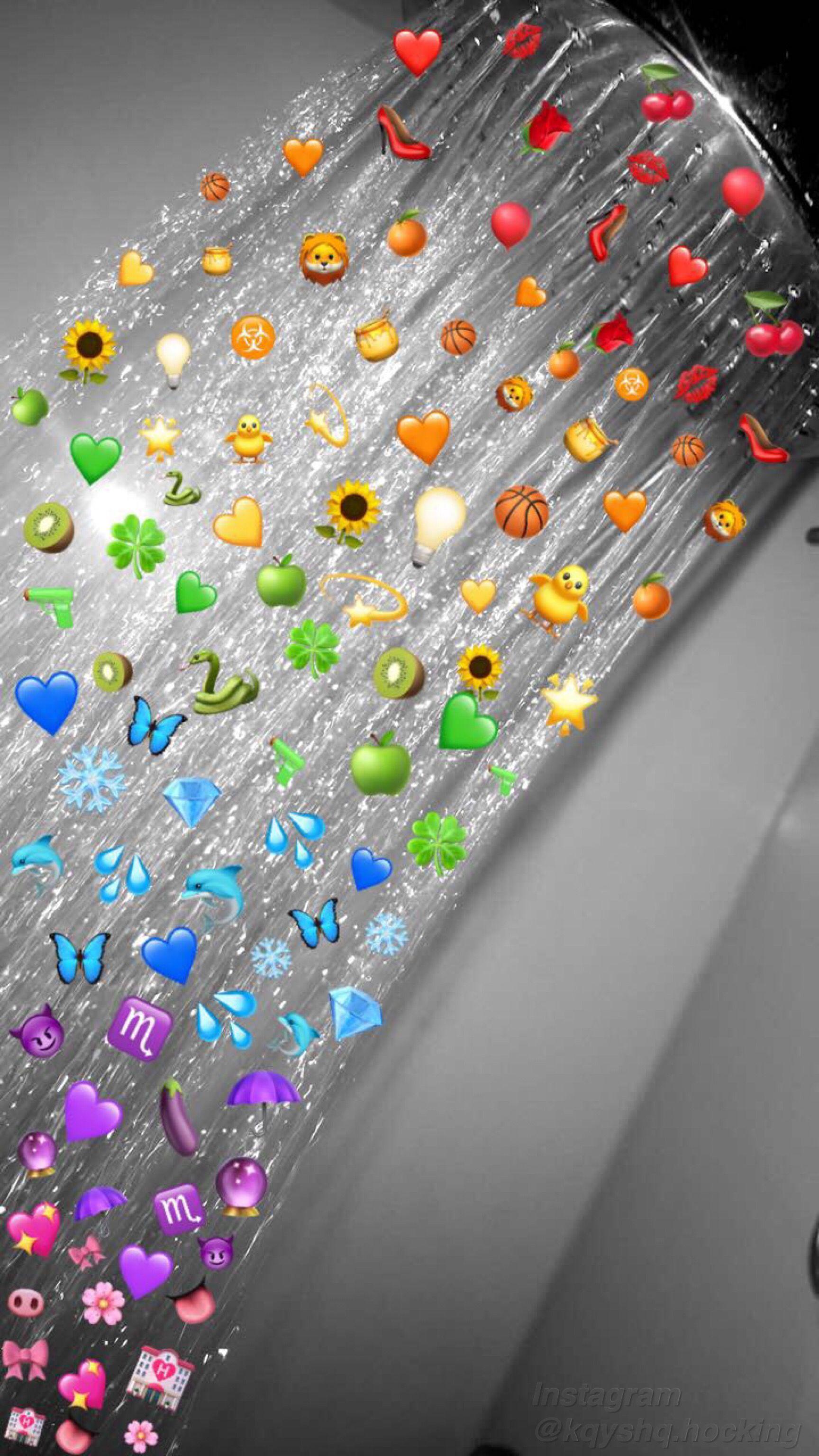 Aesthetic Rainbow Emoji Shower Wallpaper Aesthetic Iphone Wallpaper Emoji Wallpaper Iphone Wallpaper Images