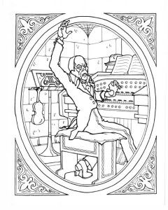 universal movie coloring pages | The Phantom of the Opera! MONSTER GALLERY coloring book ...
