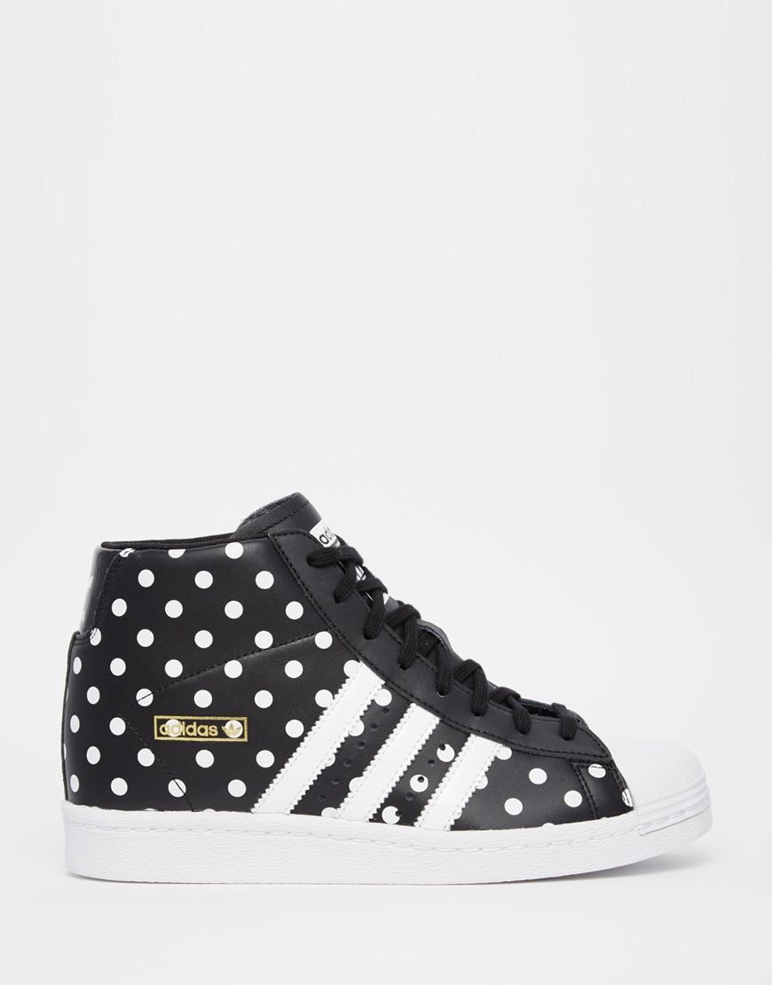 adidas Originals Superstar High Top Spot Trainers