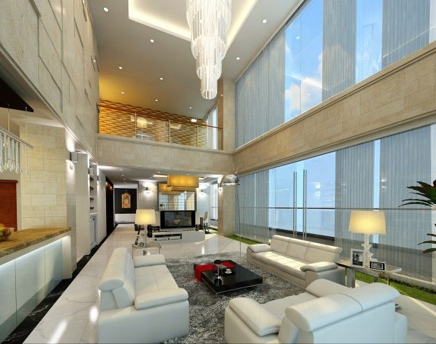3d model detail luxury penthouse 3D Architectural Interior - ideen fur wohnzimmer 3d renderings