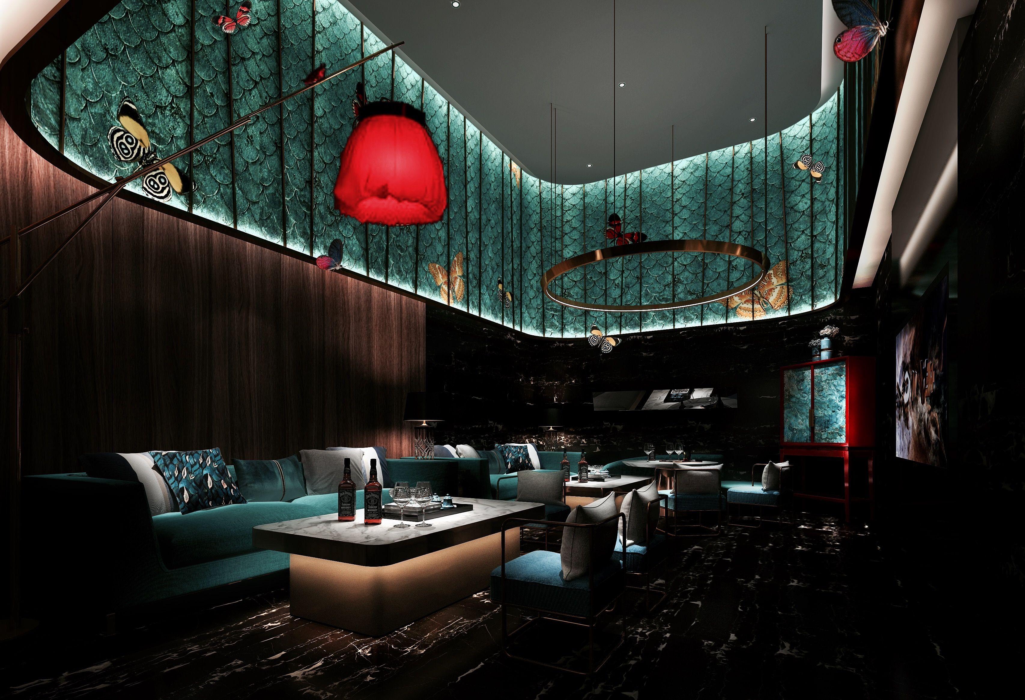 Pin By David Valentim On 餐饮 Space Bar Design Restaurant