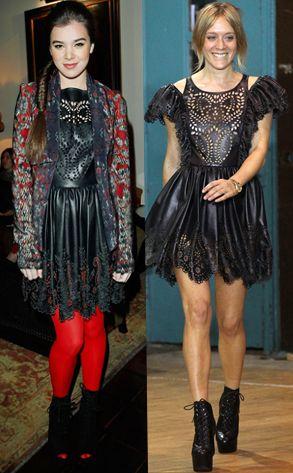 Hailee Steinfeld v. Chloe Sevigny in Chloe's dress for Opening Ceremony. Chloe wins.