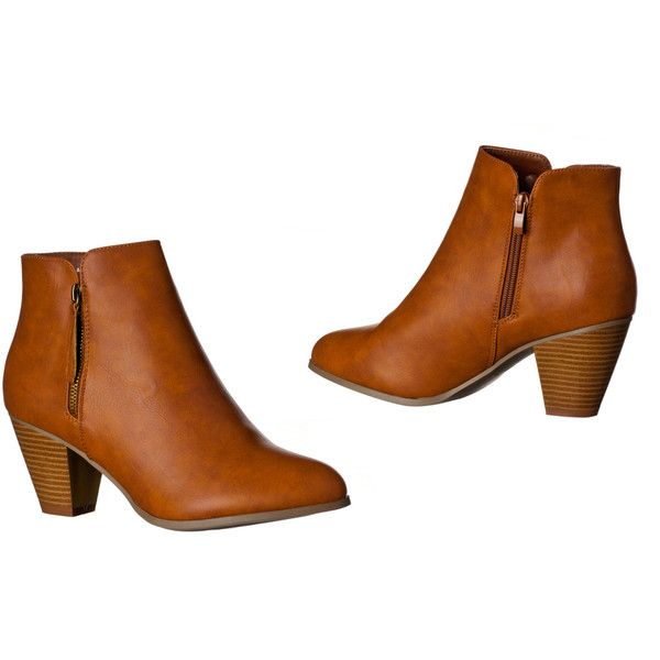 Womens 'Paula' Chunky Heel Cut Out Fashionable Booties