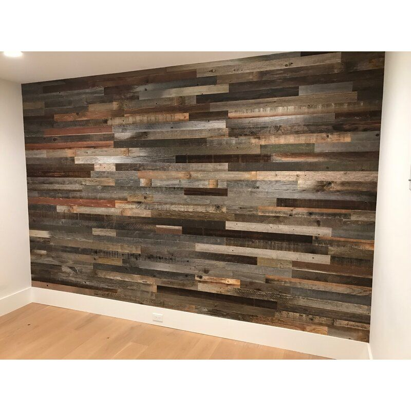 3 Reclaimed Peel And Stick Solid Wood Wall Paneling In 2020