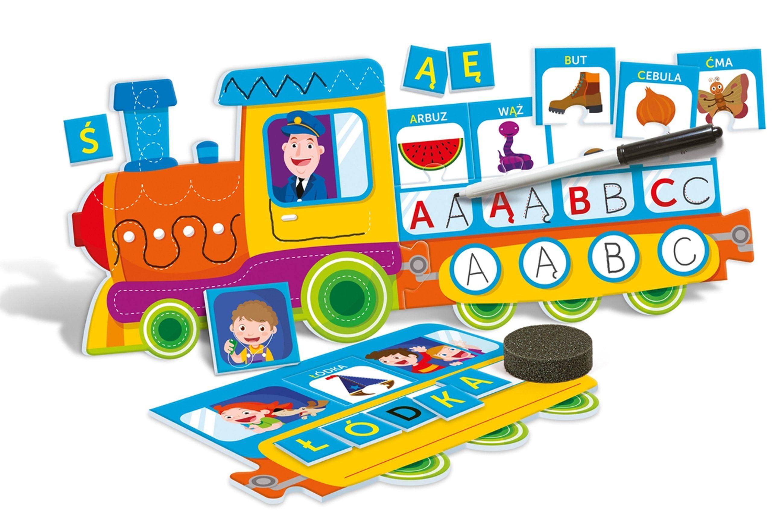 Literkowy Pociag Gra Edukacyjna Puzzle Clementoni Puzzle Gra