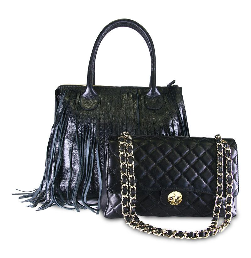 Nicoli Handbags In Genuine Leather