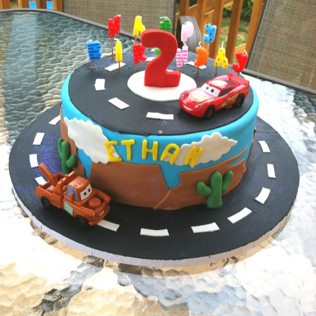 Cars birthday cakeso adorable Thanks mommytechdiary BFF Party