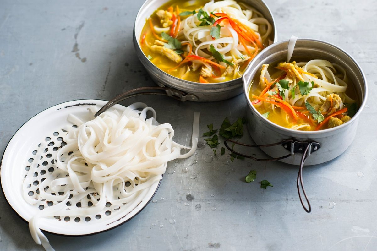 Nepalese chicken noodle soup (thukpa) Recipe Soup