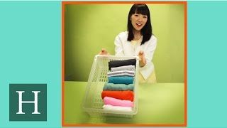 how to fold sweaters hoodies konmari method by marie kondo youtube tips organization. Black Bedroom Furniture Sets. Home Design Ideas