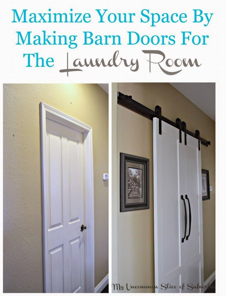 Save Space In A Small Room By Replacing A Regular Door With Sliding Barn Doors This Was The Perfect Soluti Diy Barn Door Making Barn Doors Diy Bathroom Design