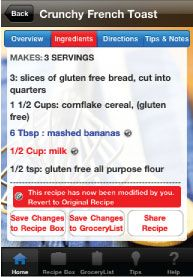 App for customizing recipes to work with your food allergies gf app for customizing recipes to work with your food allergies forumfinder Gallery