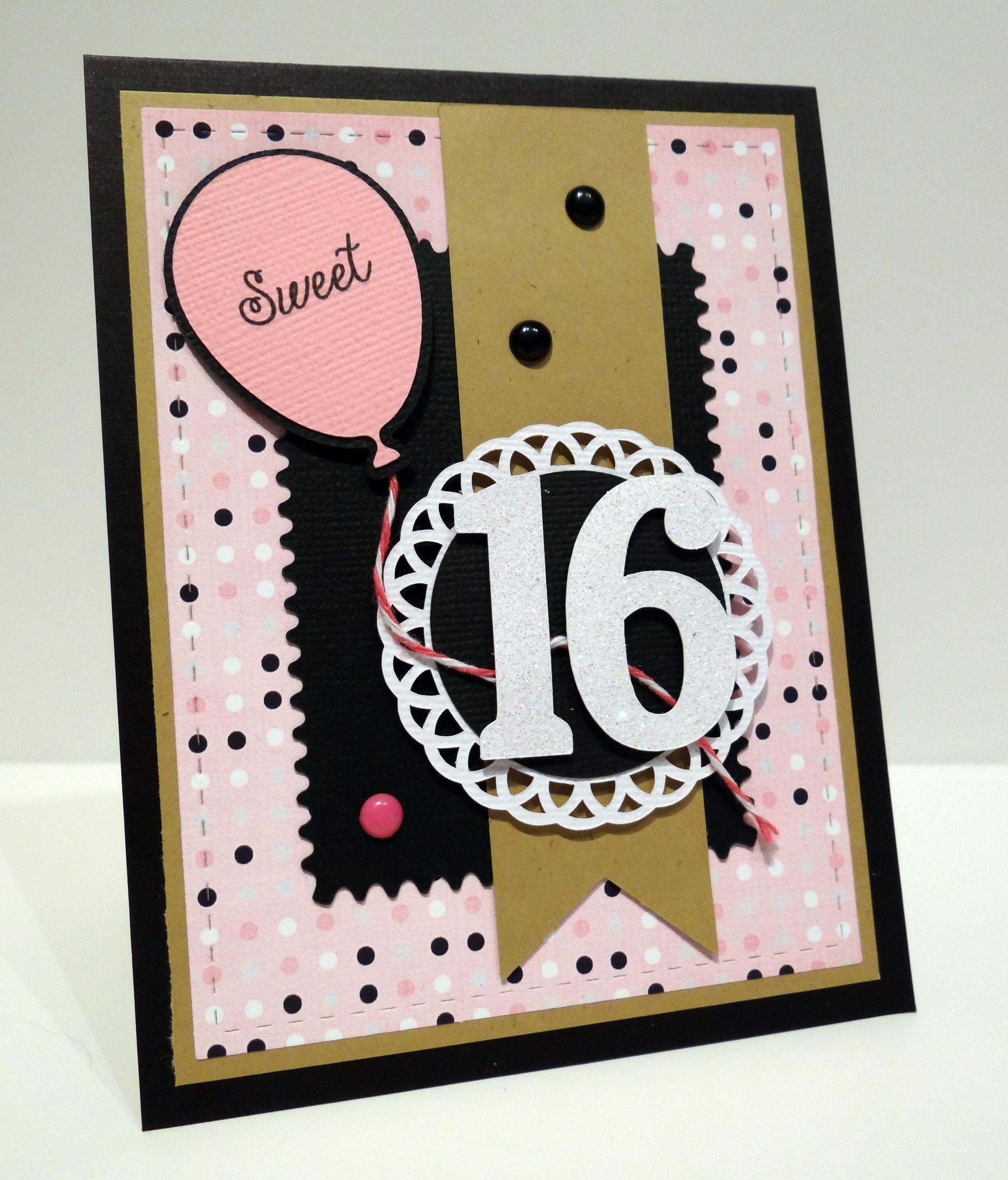 Sweet 16 16th Birthday Card Card Making Birthday Birthday Cards