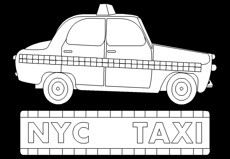 coloriage taxi new york projets essayer pinterest york coloriage et tats unis. Black Bedroom Furniture Sets. Home Design Ideas