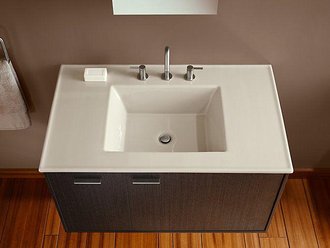 Ceramic Impressions 37 Inch Rectangular Vanity Top Bathroom Sink