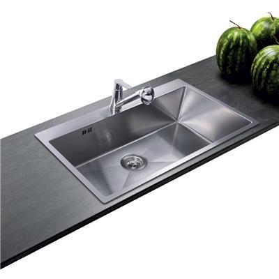 Evier inox lisse Aquasanita LUNY 1 bac Option Kitchen Pinterest - decoupe plan de travail pour evier