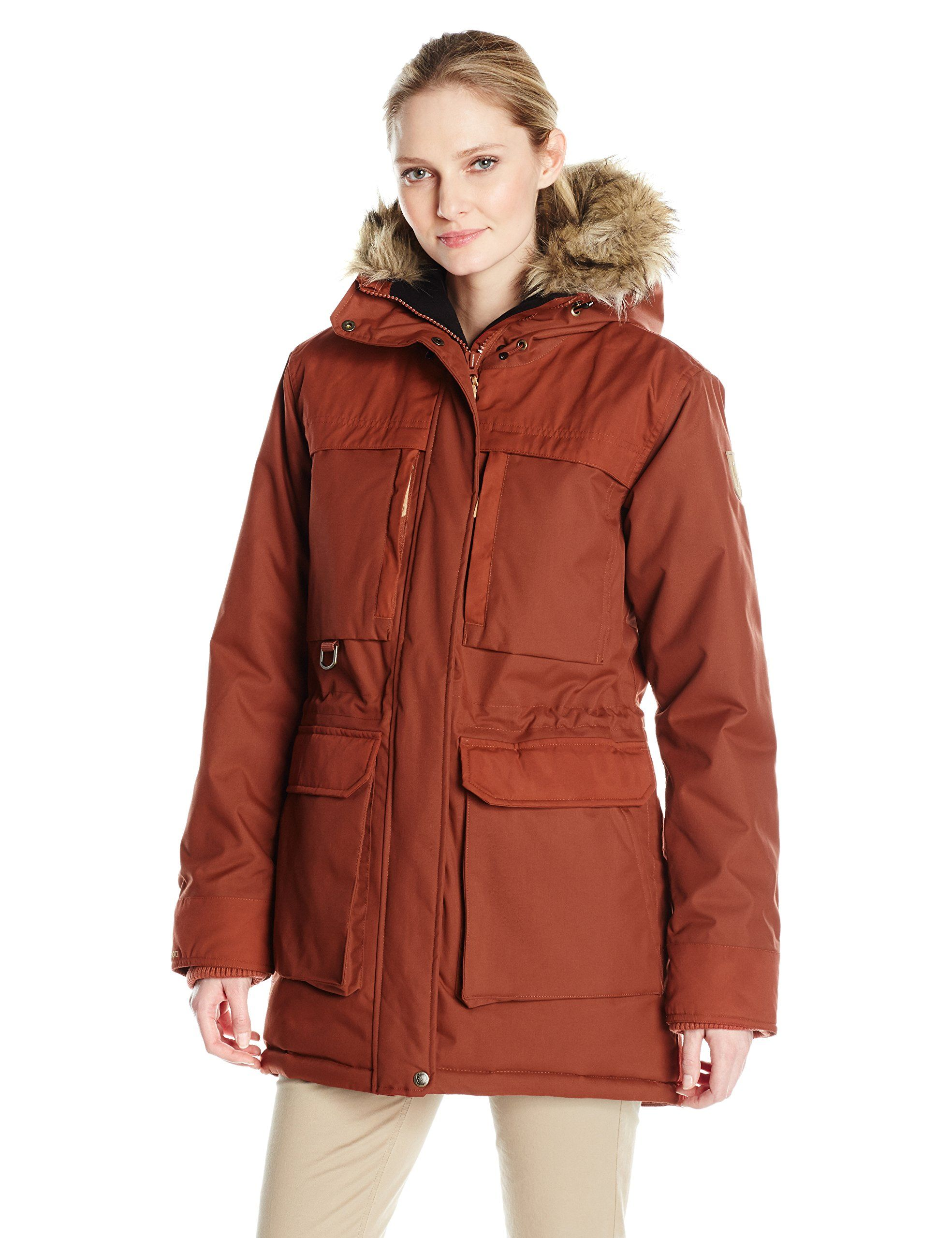 8d09bc284be Fjallraven Women's Polar Guide Parka, Large, Deep Red. Wind and Waterproof  winter Parka