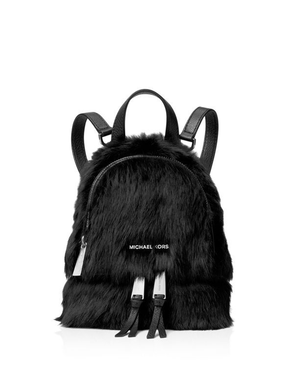 a7013933f861 Michael Michael Kors Rhea Extra Small Zip Shearling Messenger Backpack