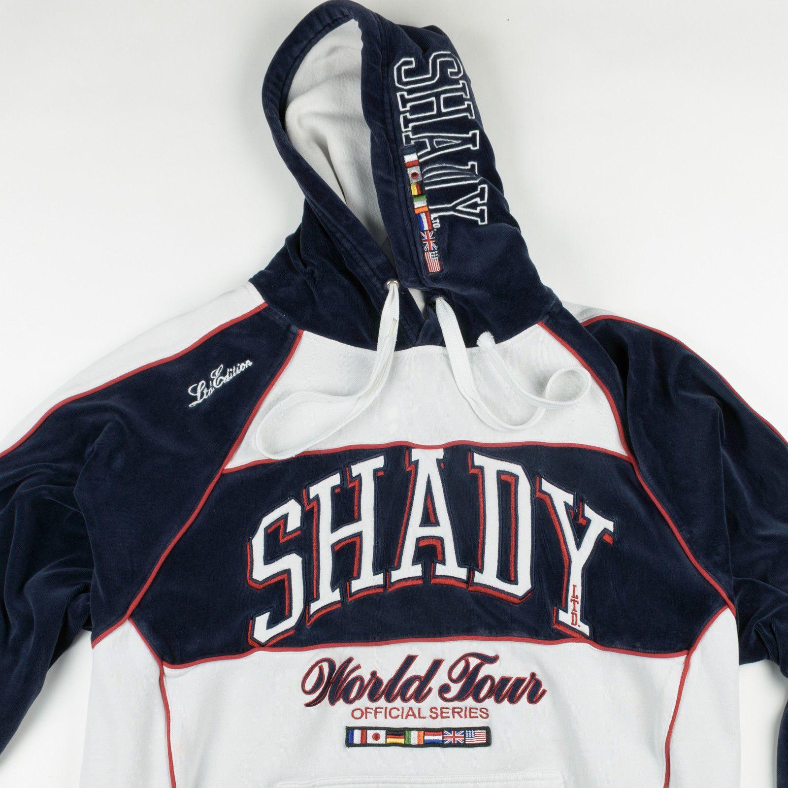 1ed8c36b1aa3 Shady Ltd Eminem World Tour Classic Color Block Velour Hoodie Sweatshirt  Medium
