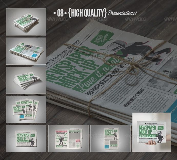 Newspaper Ad Mockup Psd Design Template For Branding