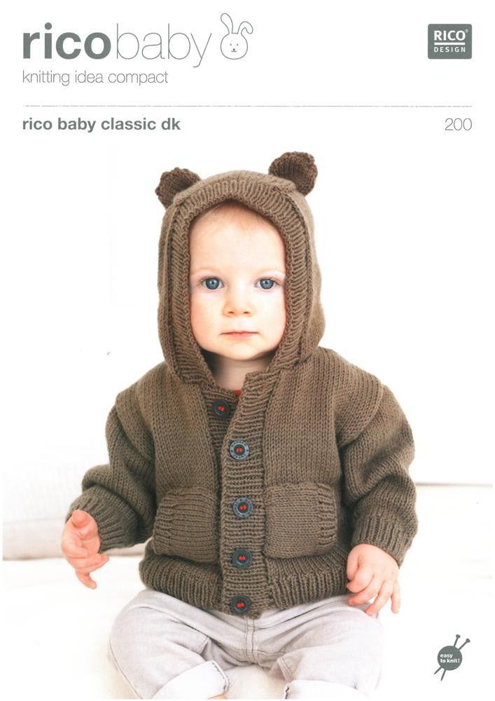 Babies Hoodies in Rico Baby Classic Dk | Black Sheep Wools ...