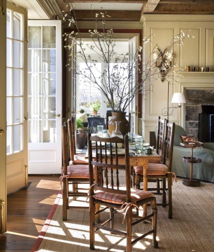 Cozy Kitchens With Fireplaces American Houses Kitchen Fireplace