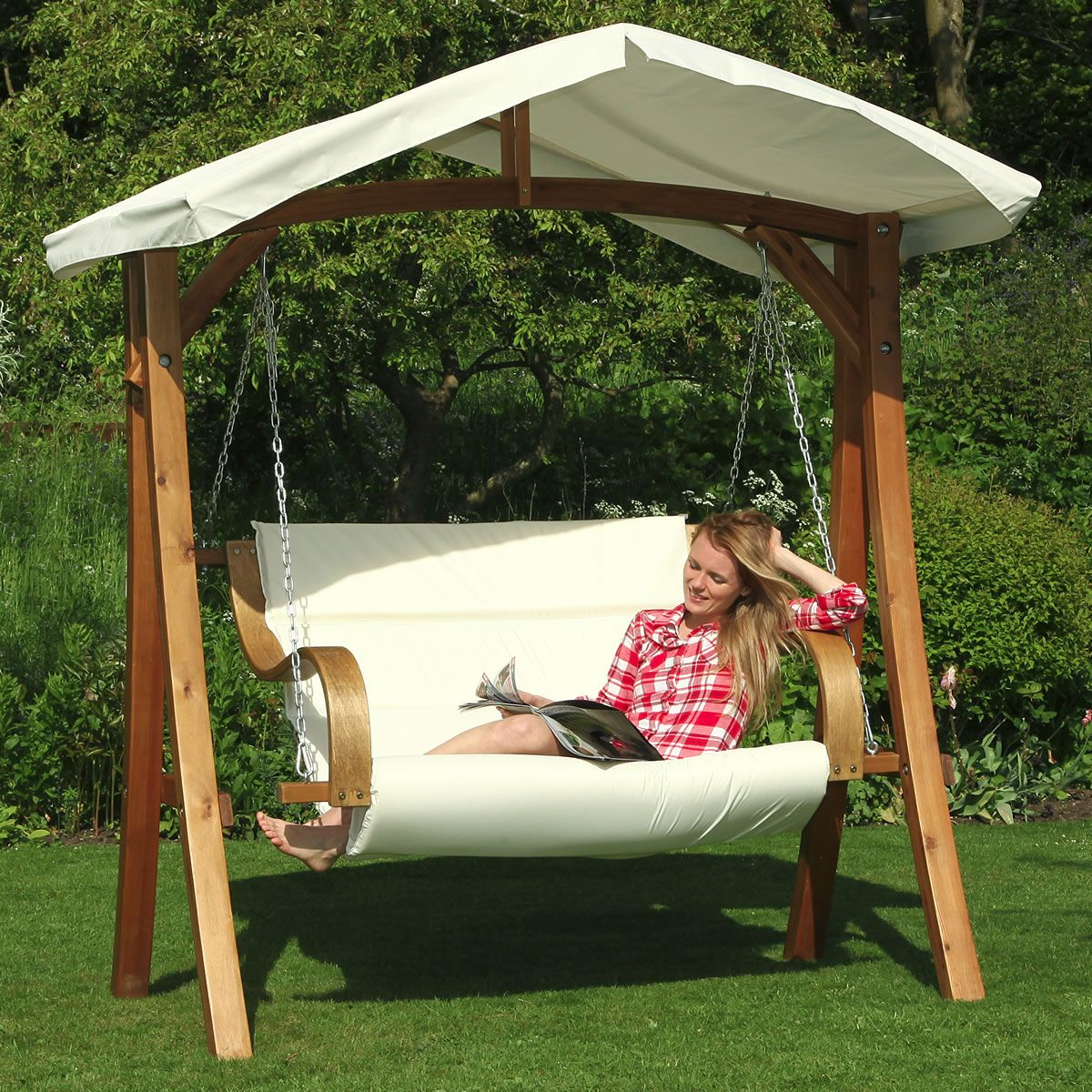 Swing Chair With Canopy Backyard Furniture Patio Swing Outdoor