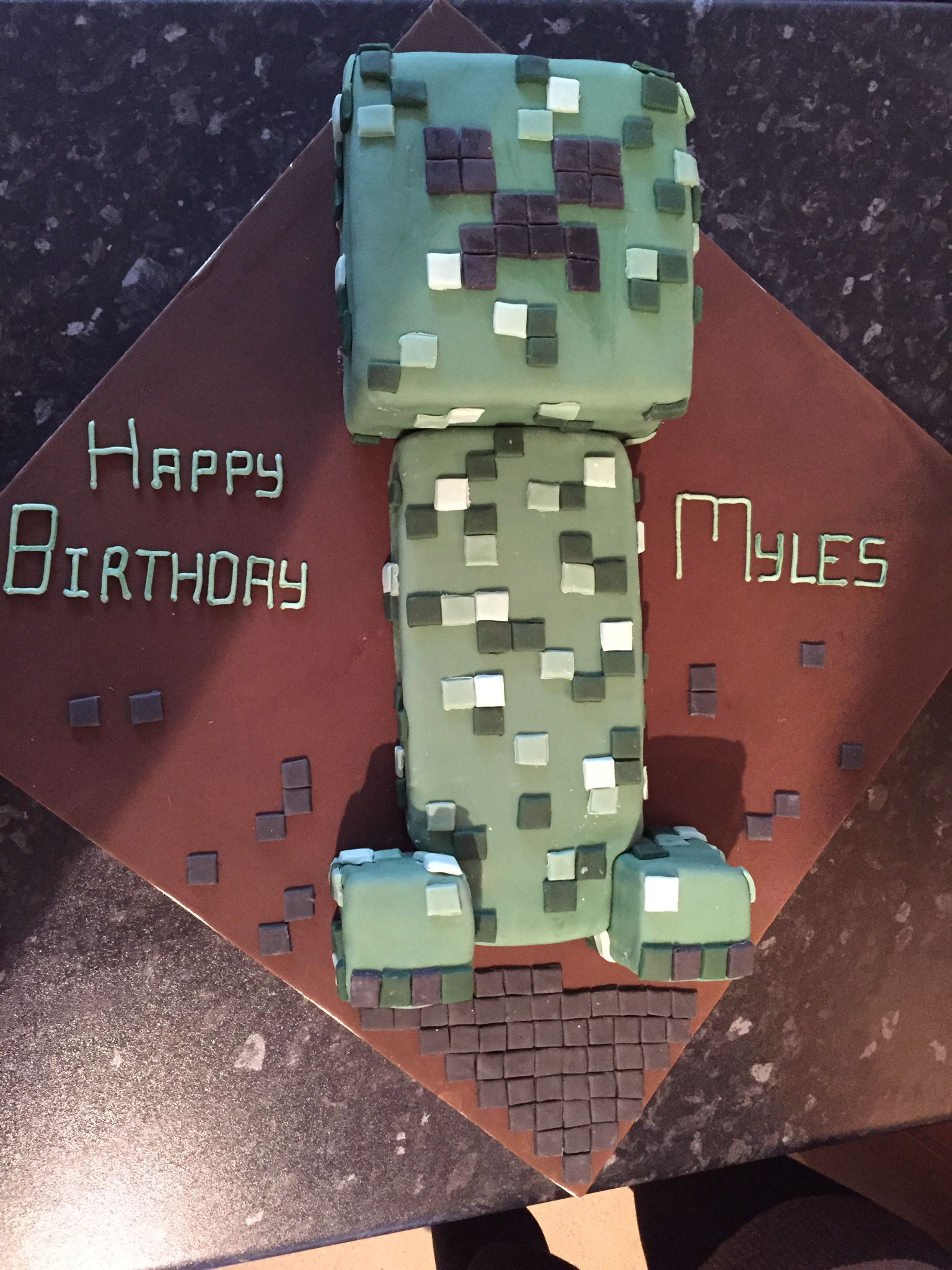 Creeper mine craft birthday cake minecraft birthday