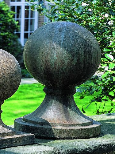 Large Sphere With Round Base Statue/Finial S 204 Campania International  Cast Stone Garden Statuary: Large Sphere With Round Base Statue/Finial  Garden ...