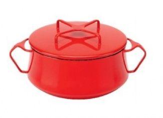 Dansk Kobenstyle Rectangular Baker White Cast Iron Dutch Oven