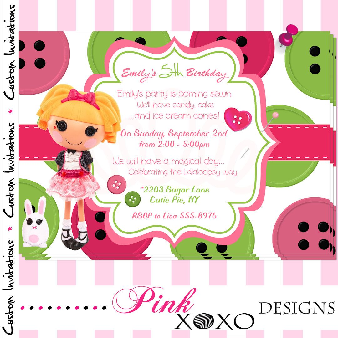 Girls PRINTABLE Digital Invite - LALALOOPSY (Misty Mysterious ...