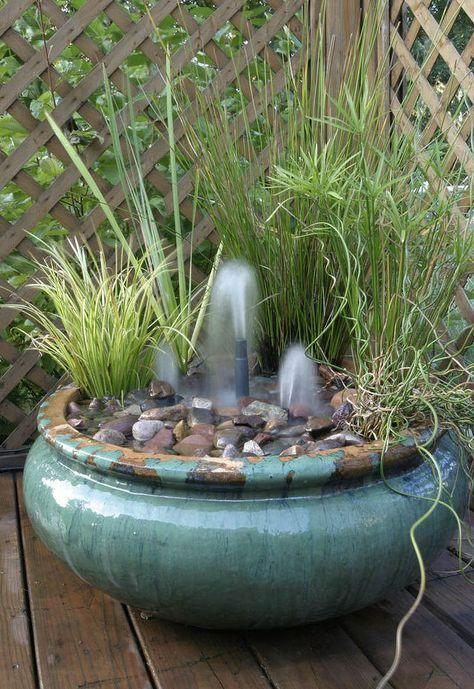 Mögen Sie Auch Das Plätschern Des Wassers Im Garten? Schauen Sie Sich Diese  Schönen Brunnen Ideen An.   1001 Bastelideen