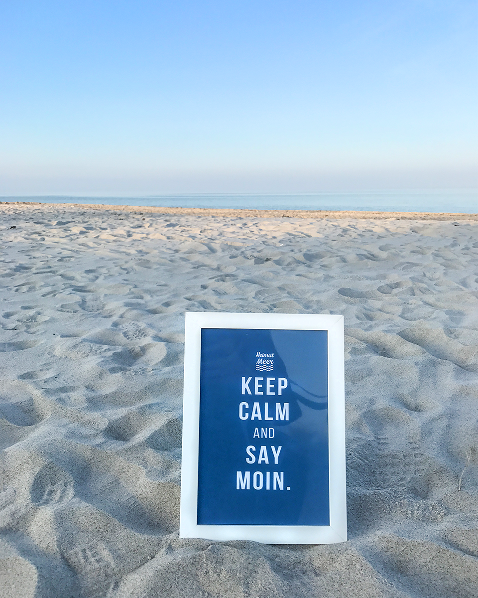 Keep Calm And Say MOIN. PRINT >> | Maritime Deko Einrichtung ...