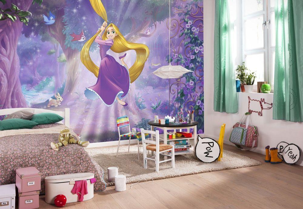Tangled Rapunzel Disney Princess Wall Mural Wallpaper Buy It Now Princess Wallpaper Girls Bedroom Wallpaper Rapunzel Room