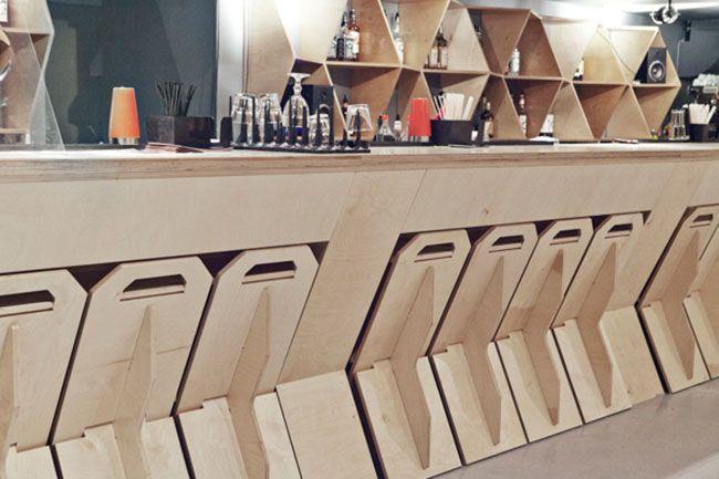 Diseño de bar listo para armar