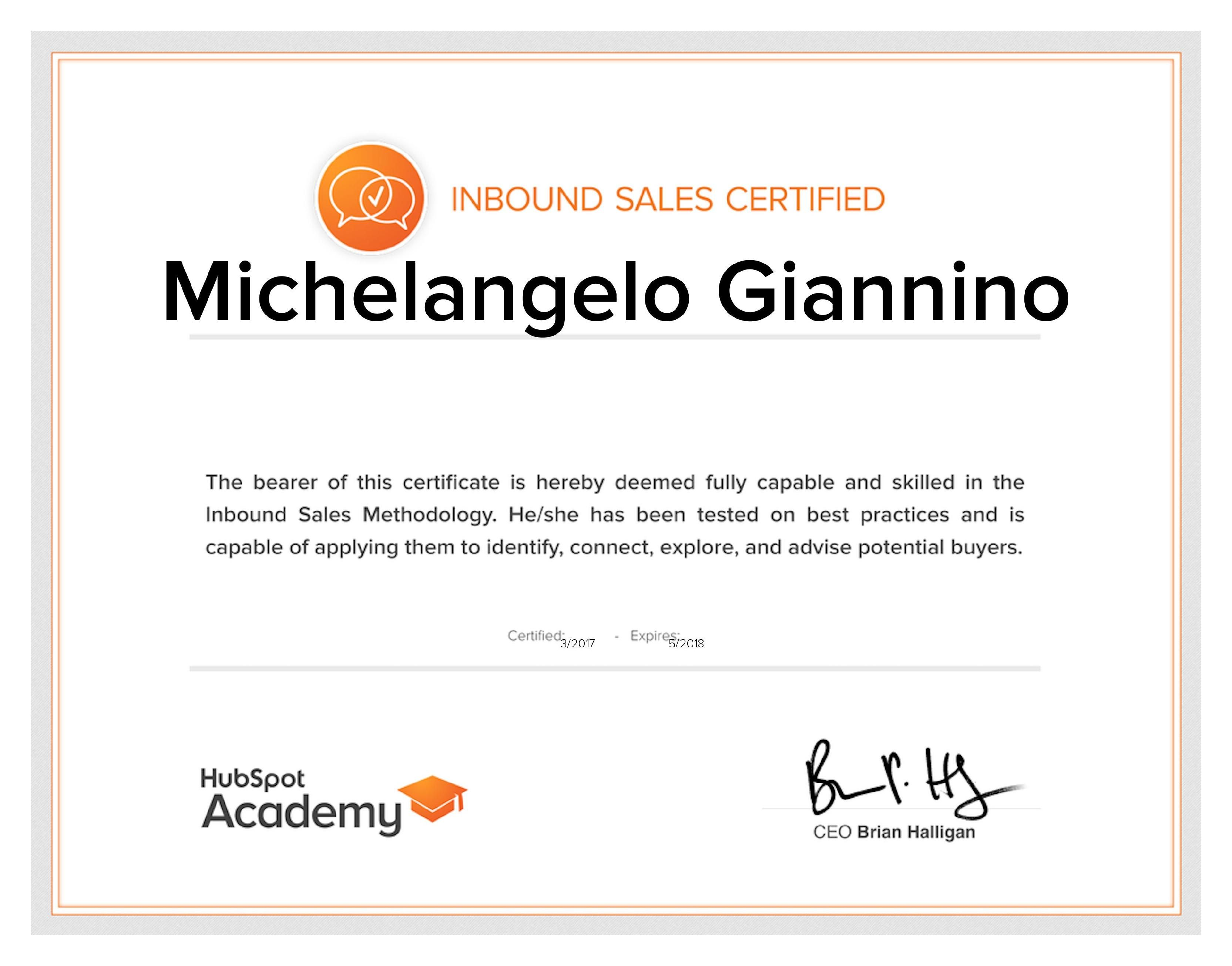 Inbound Sales Certification HubSpot   Certificazioni   Pinterest