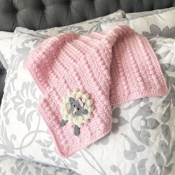 Crochet Lamb Toy & Pink Crochet Security Blanket/Amigurumi Sheep Toy/Crochet Sheep Toy/Amigurumi Lamb Toy/Crochet Baby Blanket/Stuffed Lamb #crochetsecurityblanket
