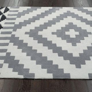 Nuloom Handmade Modern Aztec Grey Rug 3 6 X 5 6
