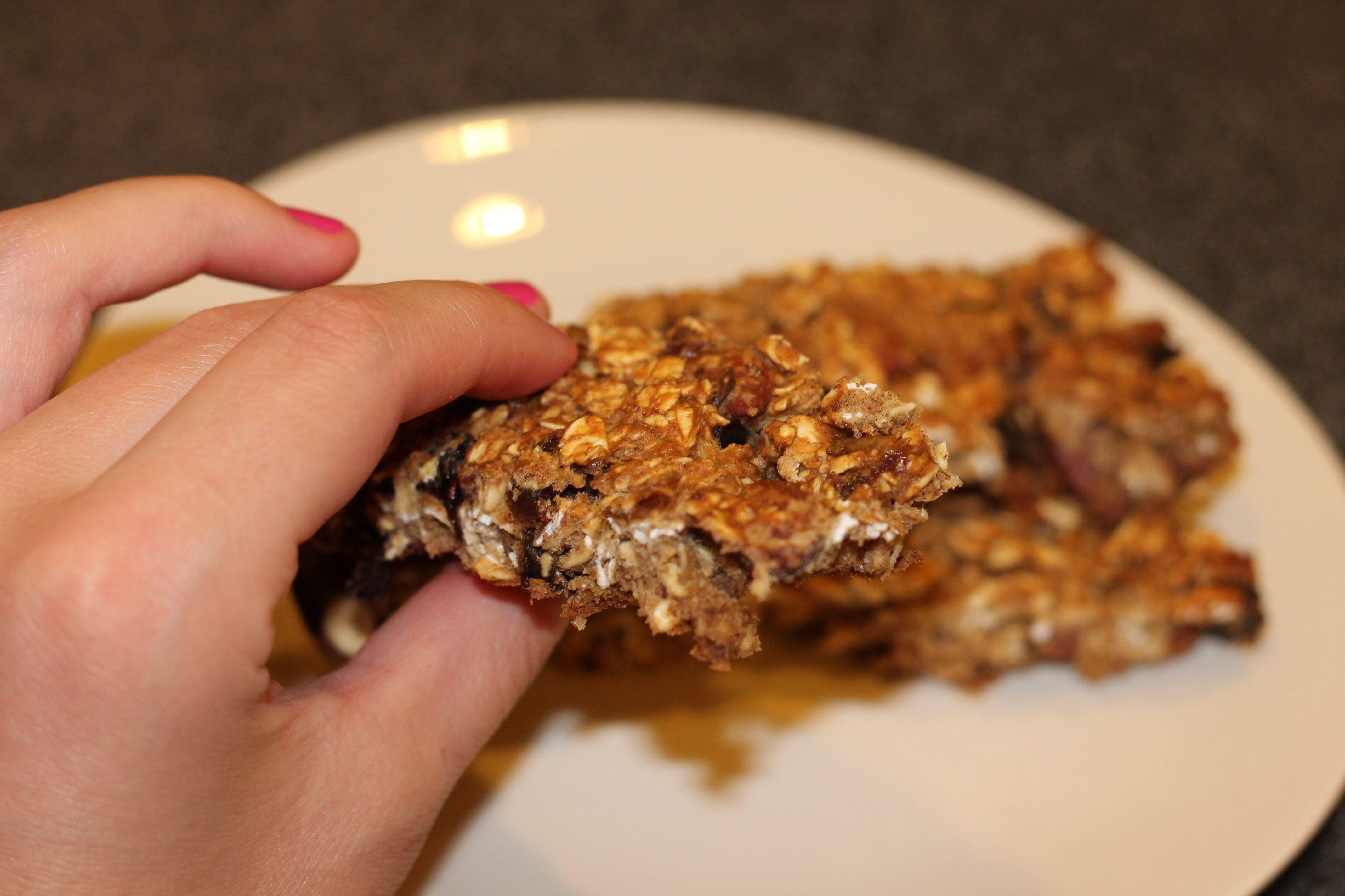 No Sugar Added Date, Raisin and Almond Protein Granola Bars
