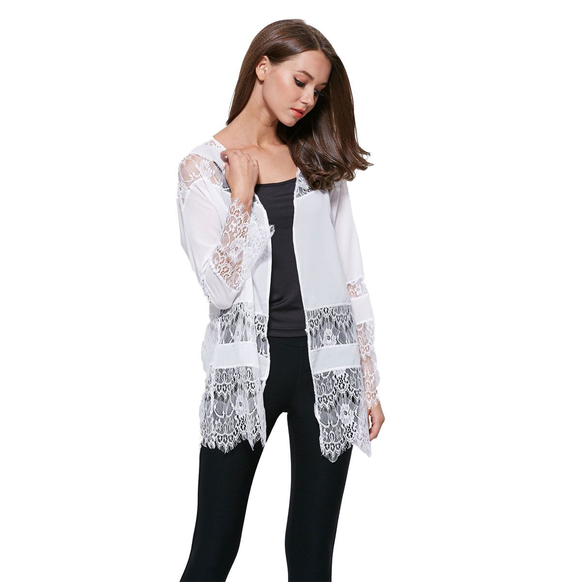 Find More Blouses & Shirts Information about Free shipping new sale Gypsy Bohemia women's Lace Black Kimono Top Blouse Cardigan Jacket S M L 64013,High Quality blouse back,China blouse lace Suppliers, Cheap jacket shorts from Win-win 01 on Aliexpress.com