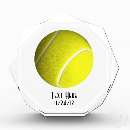 Tennis Ball Crystal Trophy Award Zazzle Com Tennis Ball Tennis Trophy