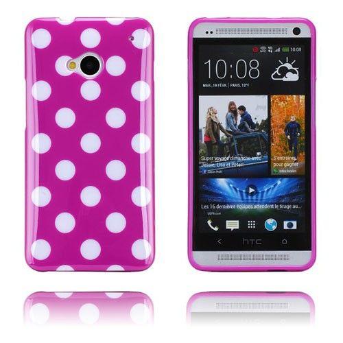 Polka Dots (Violetti) HTC One Suojakuori