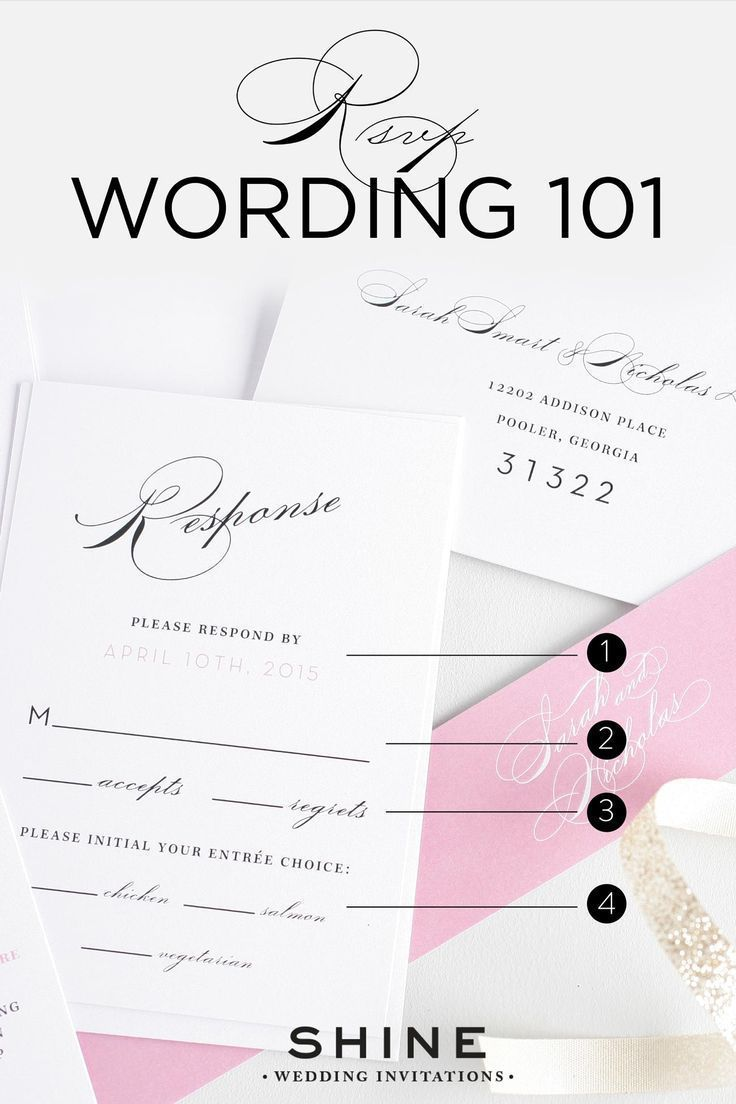 RSVP Wording 101 | Shine wedding invitations, Response cards and Rsvp