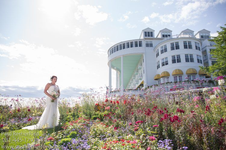 Grand Hotel Mackinac Island West Porch Wedding Photography Paul Retherford Hair By Astor S Salon Flowers Margaret Garden Using Masco Cottage At