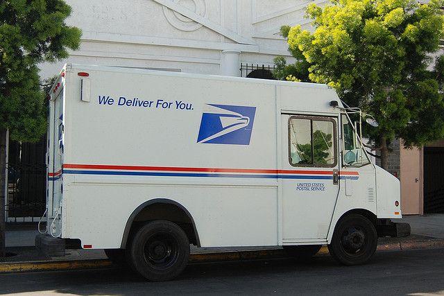 United States Postal Service Usps Mail Truck United States Postal Service Postal Employee