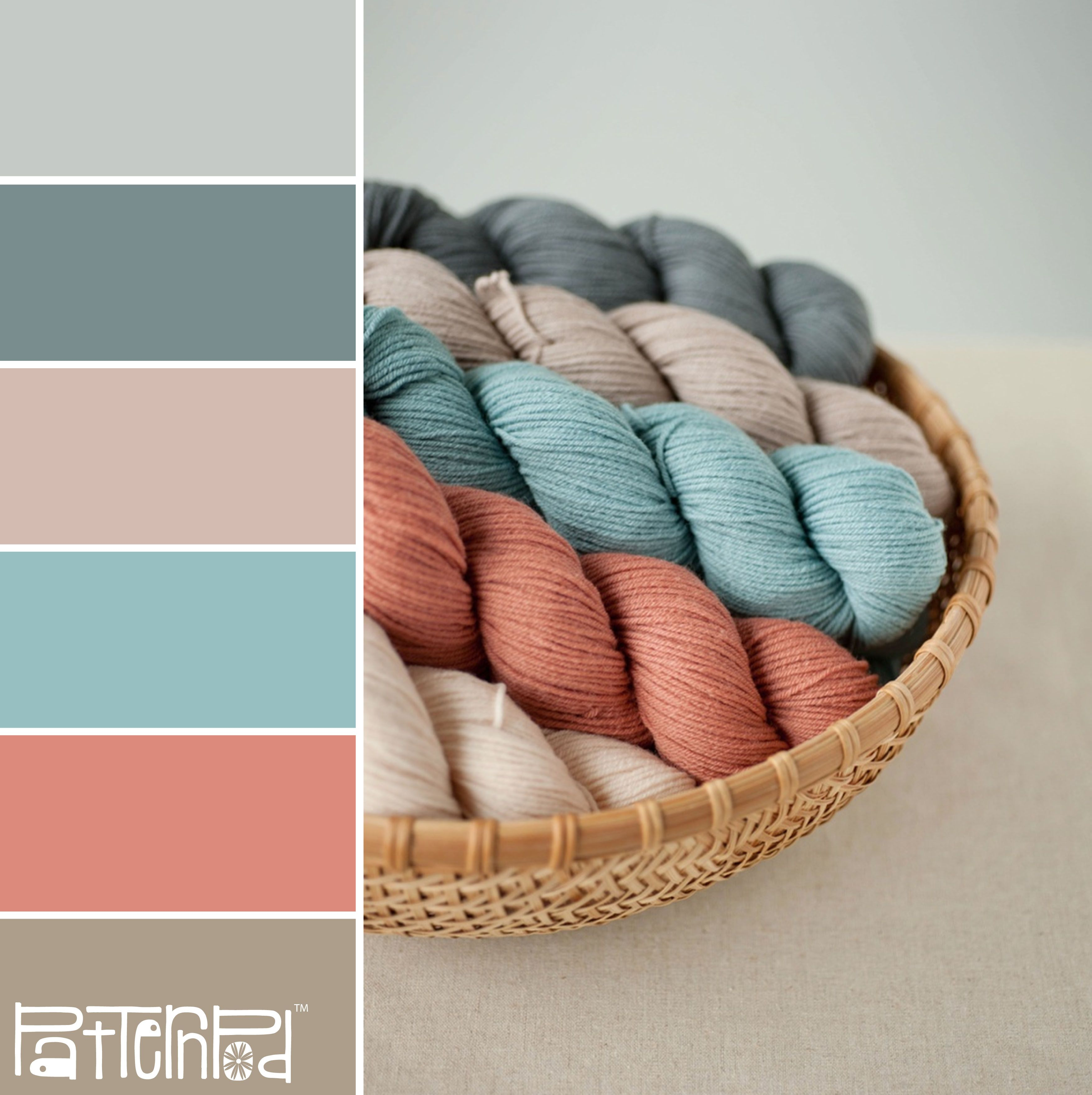 Aec652630De824Aa7D7B5D11Fbc36Ad9 3,511 3,521 Pixels Yarn Colorswool Yarnwool Threadcoral Colour Paletteturquoise
