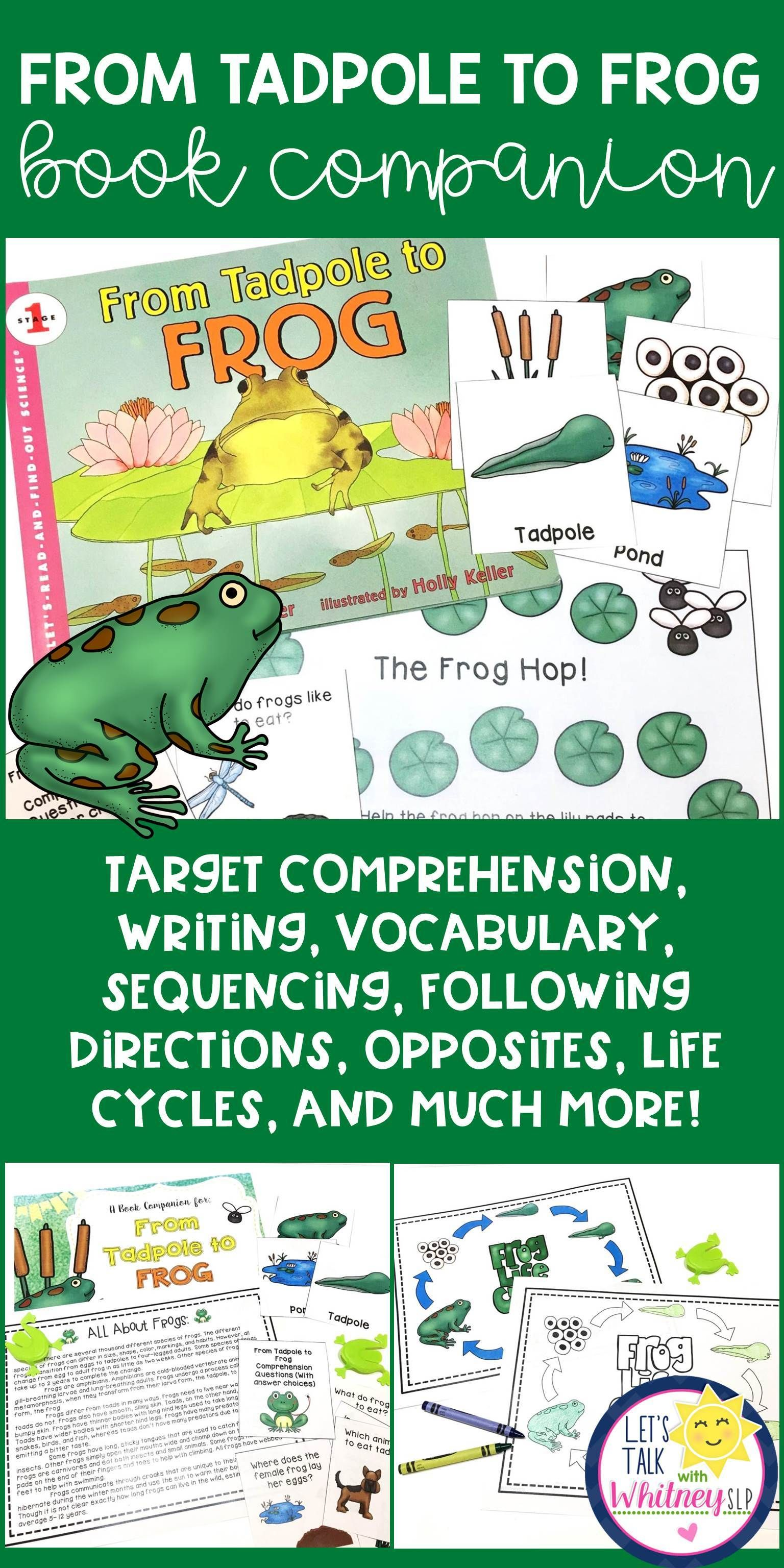From Tadpole To Frog Book Companion