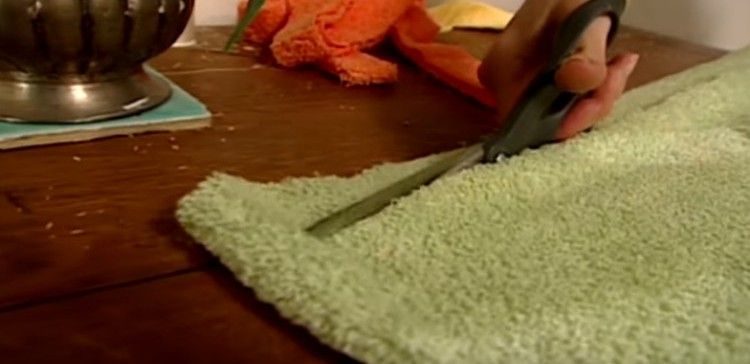 How To Make A Bathroom Rug Out Of Old Towels Old Towels Towel