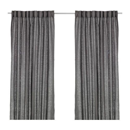 AINA Gardinenpaar, dunkelgrau Blickdichte gardinen, Schirmen und - vorhänge blickdicht schlafzimmer