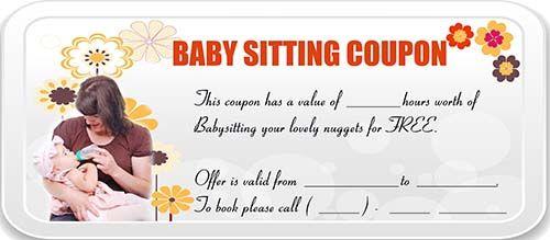 Babysitting Coupon  Babysitting Coupon Templates