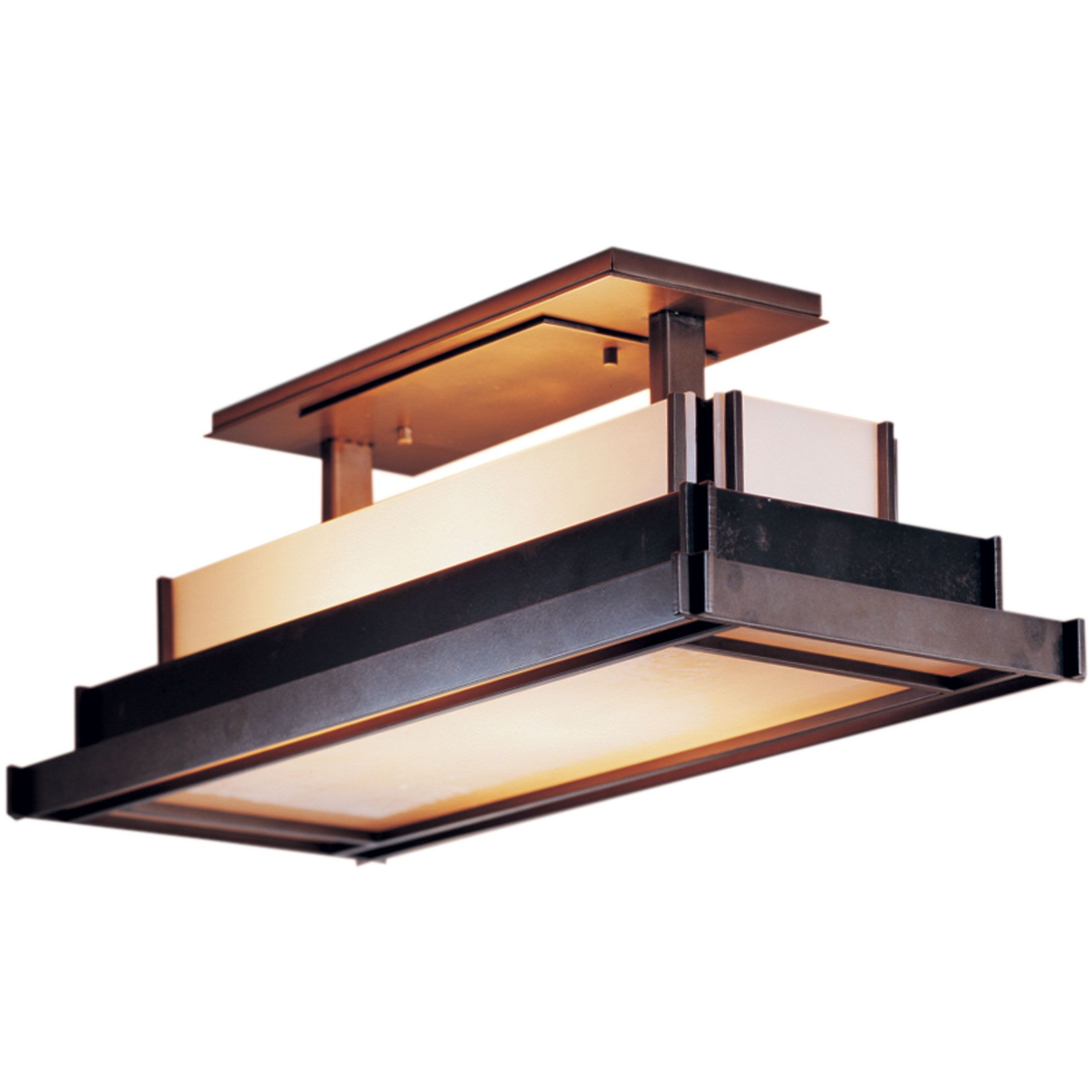 Steppe Rectangle Semi Flush Ceiling Light By Hubbardton Forge